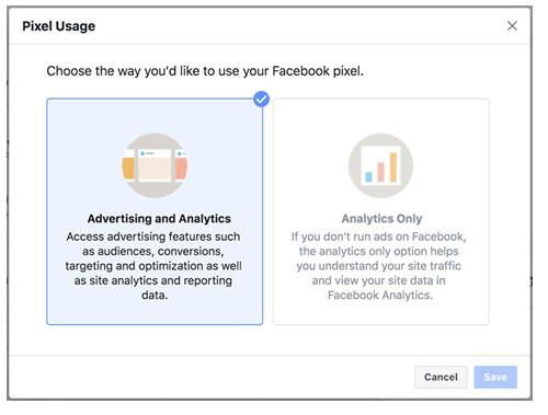 Facebook像素選項