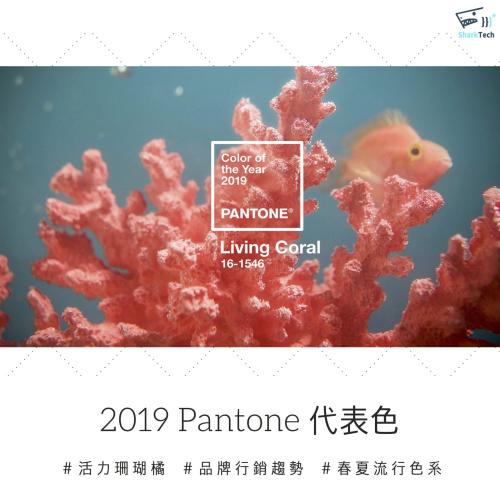 2019 Pantone年度代表色-活珊瑚橘Living Coral,展現科技時代自然生機